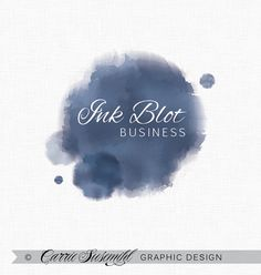 Ink Blot premade logo design by CarrieSusemihlDesign on Etsy, $35.00