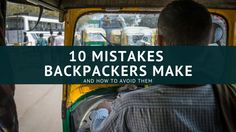 10 mistakes backpackers make