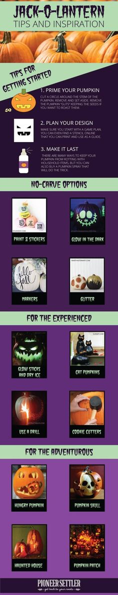 Carved Pumpkins | Easy And Fun DIY Crafts For Fall | Fall Decor Ideas