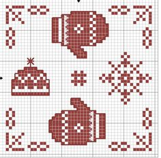 Winter biscornu pattern