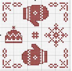 Winter biscornu pattern
