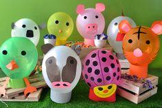 Personalizá tus globos con forma de animales