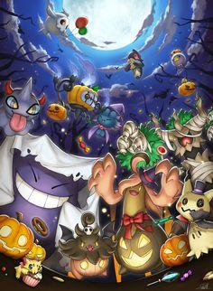 Pokemon Backgrounds, Cool Pokemon Wallpapers, Cute Pokemon Wallpaper, Animes Wallpapers, Pokemon Firered, Pokemon Eeveelutions, Pokemon Fan Art, Pokemon Halloween, Anime Halloween