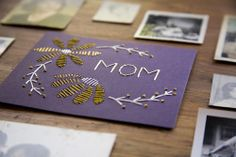 DIY stitched Mothers Day Card | How About Orange