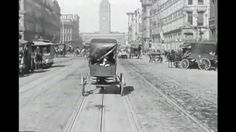 The Market Street film, shot on April 14 1906, was filmed on a cable car traveling from Eighth Street toward the Ferry Building. It provided a remarkable record of a moment in time - San Francisco four days before the disaster. Here is info about the film:  http://www.silentfilm.org/pages/detail/2082