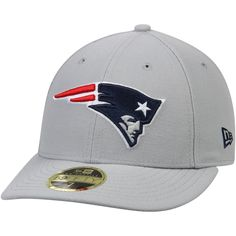 7d4543aae Men s New England Patriots New Era Gray Omaha Low Profile 59FIFTY  Structured Hat