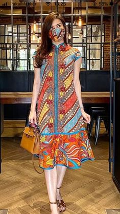 Stylish Dress Designs, Designs For Dresses, Stylish Dresses, Casual Dresses, Batik Fashion, Hijab Fashion, Fashion Outfits, African Print Fashion, African Fashion Dresses