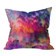 Amy Sia Sunset Storm Throw Pillow from DENY Designs