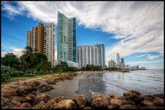 Bocagrande, Cartagena, Colombia - Bocagrande (big mouth) beach in Cartagena. This is the view when you walk from the old, walled city towards the hotels and apartment buildings in Bocagrande. - HDR Photo by Pedro Szekely © Hotels And Resorts, Best Hotels, Luxury Hotels, Travel Around The World, Around The Worlds, Hotel Packages, Walled City, Urban Setting, Panama City Panama