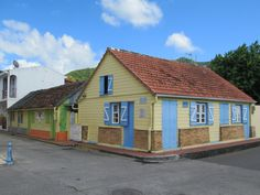 Petite Anse d' Arlet on Martinique, Eastern Caribbean, has many old Creole houses. Caribbean, Houses, Cabin, House Styles, Home Decor, Homes, Cabins, Cottage, Interior Design