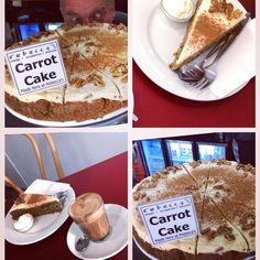 Our barista has gone cross-eyed over this carrot cake!! It looks good enough to eat!! The coffee isn't bad either!  better come into Rebecca's cafe and see us for some morning tea!  #morningteatime #crosseyedforcarrotcake #looksdelish #3284 #portfairy #greatoceanroad #portfairypics by becspf