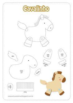 Horse motif for appliqué