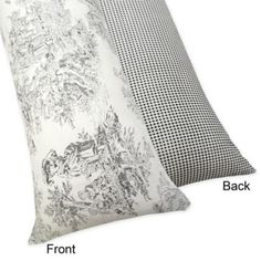 Buy Sweet Jojo Designs French Toile Maternity Body Pillow Case in Black from Bed Bath & Beyond