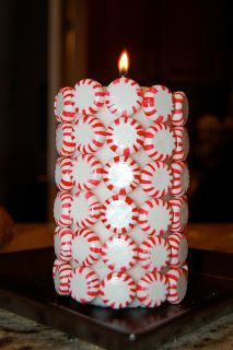 Peppermint Christmas Candle courtesy of At Home with the Howard's
