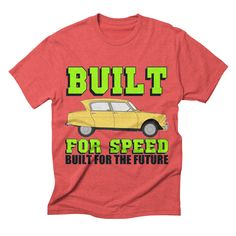 automobile-373 mens triblend-t-shirt in chili_red