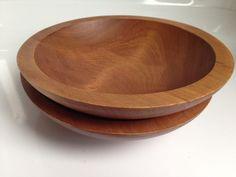 Vintage Pair of BARIBOCRAFT Wooden Teak Bowls, Mid-Century Modern Teak, Serving Bowls, Mid-century Modern, Decorative Bowls, Mid Century, Retro, Tableware, Stuff To Buy, Vintage