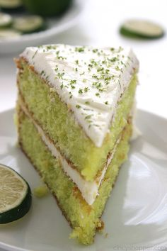 Easy Lime Cake with Cream Cheese Frosting is so simple and tastes amazing. Amazing and flavorful cake. Lemon Desserts, Lemon Recipes, Easy Cake Recipes, Fruit Recipes, Dessert Recipes, Lime Cake Recipe, Cake Receipe, Icing Recipe, Frases