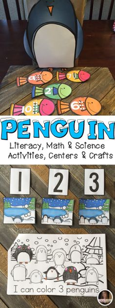 Penguin Activities, Centers and Crafts for Preschool and Kindergarten