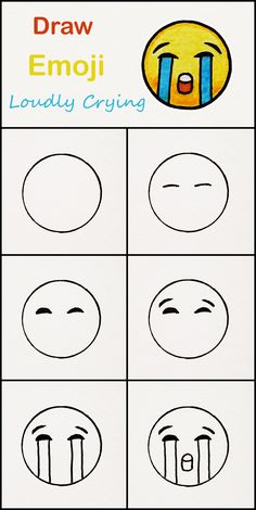 Learn how to draw The loudly crying Emoji step by . Learn how to draw The loudly crying Emoji step by step ♥ very simple tutorial Easy Drawings For Kids, Cool Art Drawings, Doodle Drawings, Drawing For Kids, Art For Kids, Art Sketches, Simple Drawings For Kids, Heart Drawings, Children Drawing