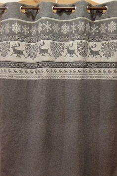 rideaux montagne rideaux laine rideaux sur mesure rideaux curtains pinterest chalets. Black Bedroom Furniture Sets. Home Design Ideas