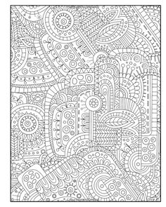abstract doodle coloring pages colouring adult detailed advanced printable kleuren voor volwassenen diabolically detailed coloring book volume art filled
