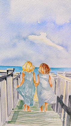 Sisters Painting  - Sisters Fine Art Print