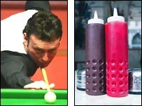 STUNT: Jimmy White changes name to Jimmy Brown in conjunction with HP Sauce's sponsorship of the brown ball
