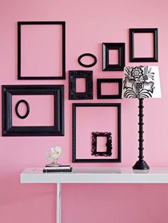 take your empty frames and upcycle them to be wall art