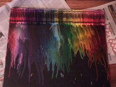 Create Your Own Melted Crayola Crayon Art, Beyoutiful Disaster