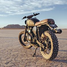 Thanks to a weight-loss program and a bevy of trick parts from British Customs, this 2012-model Triumph Scrambler is ready to rule the desert.