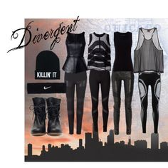"""Divergent"" by bkelm on Polyvore"