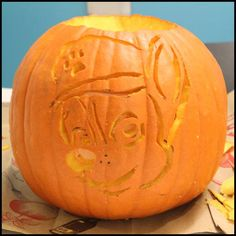 Decorate your house for Halloween using a PAW Patrol stencil to create a PAWsome jack-o-lantern!