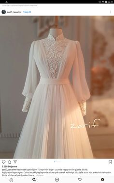 Stylish Dresses, Elegant Dresses, Pretty Dresses, Fashion Dresses, Muslimah Wedding Dress, Muslim Wedding Dresses, Mode Abaya, Mode Hijab, Prom Dresses Long With Sleeves