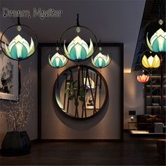 Modern new Chinese style chandelier creative personality decorative lotus lamp imitation classical aisle Restaurant Restaurant L. Yesterday's price: US $92.00 (75.70 EUR). Today's price: US $84.64 (70.20 EUR). Discount: 8%.