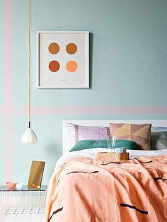 Mint Walls & Peach Sheets From The Minimalist