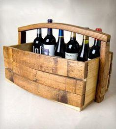 Napa Barrel Stave Magazine/Wine Basket