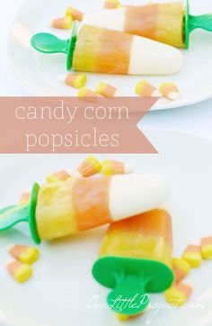 How to make candy corn popsicles. These are a great fall snack with the added bonus of being super healthy!