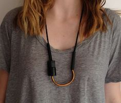 Block Necklace by Maslo Jewelry