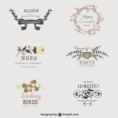художник шаблоны цветочный логотип