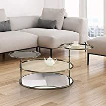 Check this out at Amazon Glass Shelves In Bathroom, Floating Glass Shelves, Bathroom Storage, Glass End Tables, Sofa End Tables, Coffee Tables, Find Furniture, Furniture Deals, Furniture Outlet