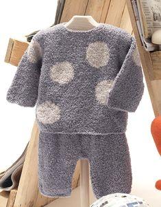 Tijdschrift Baby 62 Herfst / Winter | 13: Baby Trui | Grijs / Beige