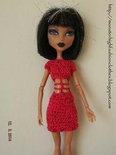 Vestido para Monster High V203 de My Monster High boutique por DaWanda.com