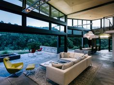 Interior/exterior overflow at the Butterfly House in Carmel, California, USA by Feldman Architecture Interior Exterior, Interior Architecture, Interior Design, Modern Interior, Eclectic Modern, Simple Interior, Commercial Architecture, Design Interiors, Sustainable Architecture