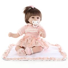 52.23$  Watch now - http://ali76j.worldwells.pw/go.php?t=32770187983 - Hot New Fashion 43 cm baby reborn baby dolls lifelike doll reborn babies toys soft silicone baby toys real touch lovely newborn 52.23$