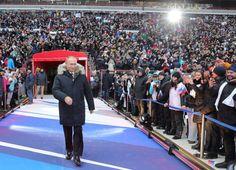 En Fotos: Así apoyaron miles de rusos la candidatura de Vladímir Putin – ConElMazoDando.com.ve Vladimir Putin, Great Leaders, Peru, History, Country, The Scream, Pictures, Daily Journal, Venezuela