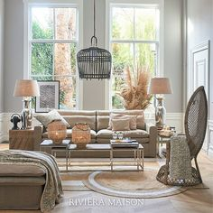 We just can't get enough of this natural look! How about you? 😍  #rivieramaison #homedeco #homeinspo #interieur #woonkamer #zomer2020 #ss20 #handgemaakt #natuurlijk #uniqueandhandmade #natural #nude Natural Looks, Home Deco, Rattan, New Homes, Farmhouse, Rustic, Nude, Tv, Accessories