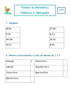 Ficheiro de Matemática 1º ano