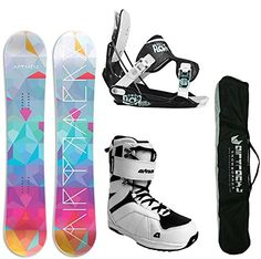 AIRTRACKS DAMEN SNOWBOARD SET - BOARD PALETTE 145 - SOFTBINDUNG FLOW GEM BLACK - SOFTBOOTS STAR W 41 - SB BAG