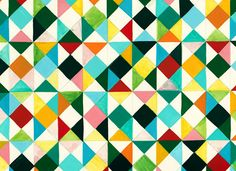 Handpainted triangles from Mino - Paper Sweets °