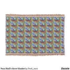 Paua Shell's throw blanket